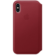 iPhone XS レザーフォリオ (PRODUCT)RED [MRWX2FE/A]