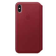 iPhone XS Max レザーフォリオ (PRODUCT)RED [MRX32FE/A]