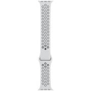 Apple Watch 40mmケース用 ピュアプラチナム/ブラック Nikeスポーツバンド - S/M & M/L [MTMQ2FE/A]