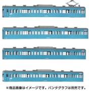 18010 [Nゲージ 国鉄 JR 103系 低運・非ユニット窓・冷改車・スカイブルー 基本4両編成ボディキットB]