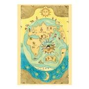 CM507-05 ちびまる子ちゃん 原画ポストカード ゆかいな世界地図 [キャラクターグッズ]