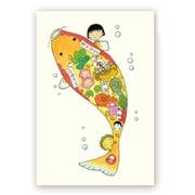 CM-PT601 ちびまる子ちゃん 原画ポストカード 福あつめ/鯉 [キャラクターグッズ]