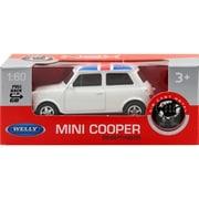 プルバックミニカー MINI COOPER (UK FLAG)-ホワイト [ミニカー]