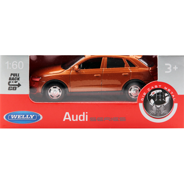 プルバックミニカー AUDI Q3-ORANGE [ミニカー]