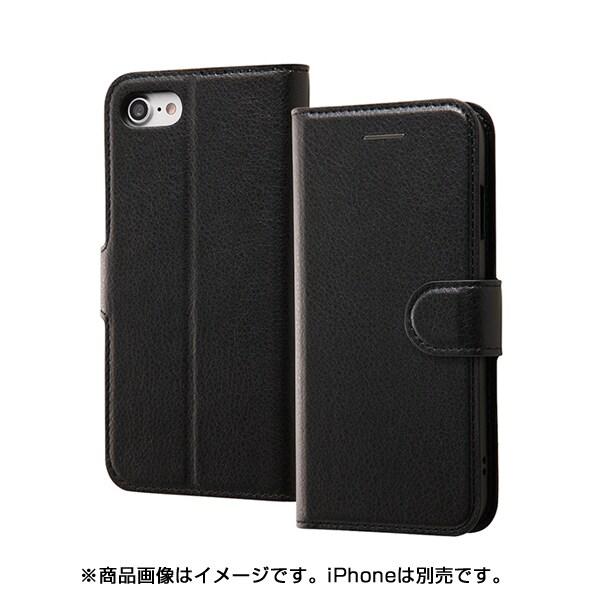 INA-P14ELC1/BB [iPhone 8/iPhone 7 レザー ブラック/ブラック]