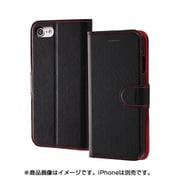 INA-P14ELC1/BR [iPhone 8/iPhone 7 レザー ブラック/レッド]