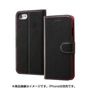 INA-P14ELC1/BP [iPhone 8/iPhone 7 レザー ブラック/ピンク]