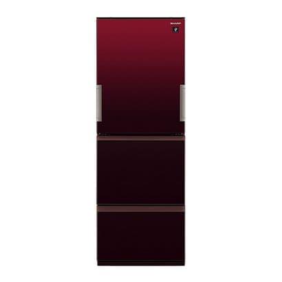 SJ-GW36E-R [プラズマクラスター冷蔵庫 (356L・どっちもドア) 3ドア グラデーションレッド]