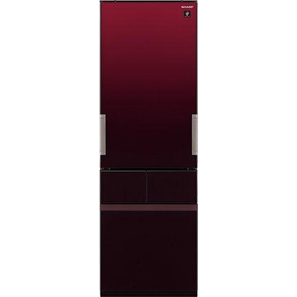 SJ-GT42E-R [プラズマクラスター冷蔵庫(415L・どっちもドア) 4ドア グラデーションレッド]