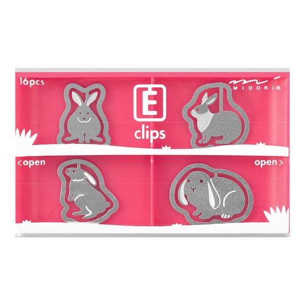 43358006 エッチングクリップス ウサギ柄 [16個]