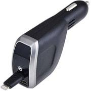 AL316 [DCリールチャージャーL+A Lightningケーブル+USBポート ブラック]