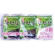韓国光天味付のり3P 8切8枚3袋