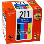 PLE-BR211-4P [互換インクカートリッジ LC211-4PK対応 4色パック]