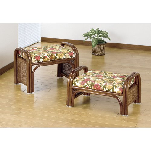 FL02377 [天然籐らくらく座椅子 2脚組 ハイタイプ+ロータイプ]