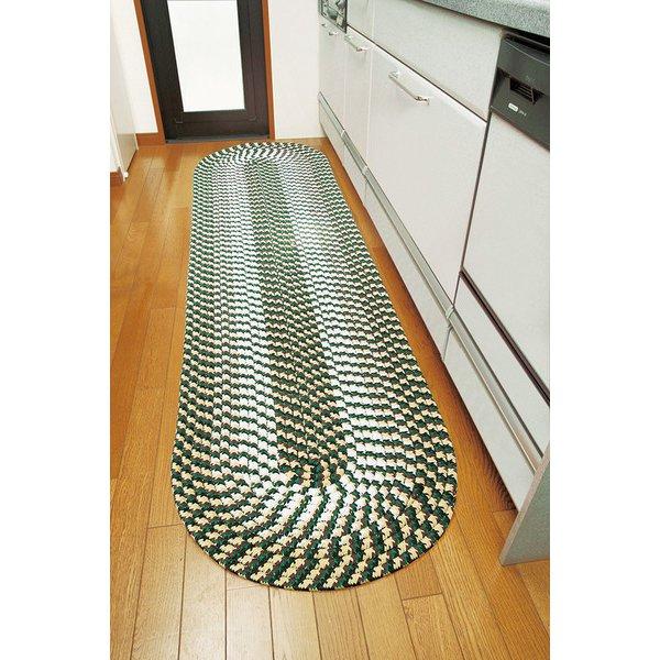 FLa1218820 [足にやさしいチューブキッチンマット ベージュ 60×270cm]