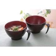 FLa10525 [会津塗 取っ手付き汁椀 2個組]