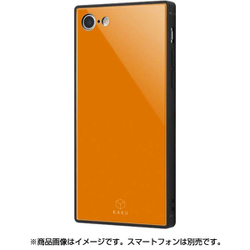 IQ-P7K1B/OR [iPhone 8/7 ガラスケース オレンジ]