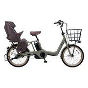 BE-ELAD03G [電動アシスト自転車 ギュット・アニーズ・DX 20型 16Ah 内装3段変速 マットオリーブ 2019年モデル]