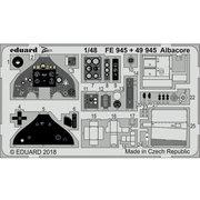 EDU49945 フェアリー アルバコア エッチングパーツ トランぺッター用 [1/48スケール エッチングパーツ]