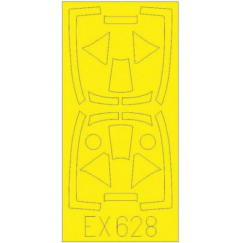 EDUEX628 ホーカー テンペストMk.V 「Tフェース」 両面塗装マスクシール エデュアルド用 [1/48スケール マスキングシール]