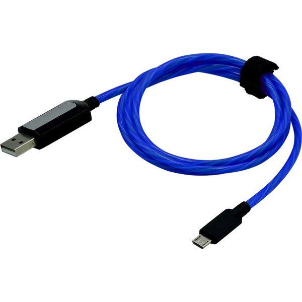 SASP-0481 [PS4コントローラー用 発光USBケーブル 1m Ray Line ブルー]