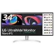 34WK95U-W [34型 Nano IPS 21:9 ウルトラワイド モニター(5120×2160)/Thunderbolt 3/DisplayHDR 600/DCI-P3 98%/PBP/フリッカーセーフ/ハードウエアキャブレーション/4辺フレームレス/スピーカー5W+5W/高さ調節機能]