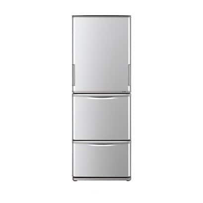 SJ-W351E-S [冷蔵庫 (350L・どっちもドア) 3ドア シルバー系]