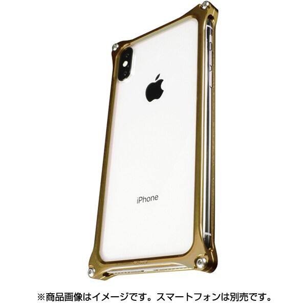 GI-422SG [ソリッドバンパー for iPhone X/XS シグネイチャーゴールド]