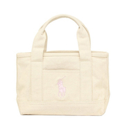 RA100113 Small Tote Natural/Light Pink Polo Ralph Lauren [トートバッグ 並行輸入品]