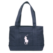 RA100106 Medium Tote Navy/Light Pink Polo Ralph Lauren [トートバッグ 並行輸入品]