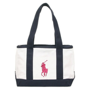 RA100107 Medium Tote Navy/Girls Riviera Bear Polo Ralph Lauren [トートバッグ 並行輸入品]