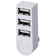 U2H-TZ325BWH [USBHUB2.0 機能主義 バスパワー 3ポート 直挿し ホワイト]