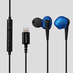 EHP-LGB10MBU [ステレオヘッドホン(マイク付) 耳栓タイプ Lightning 10.0mmドライバ Grand Bass GB10 ブルー]