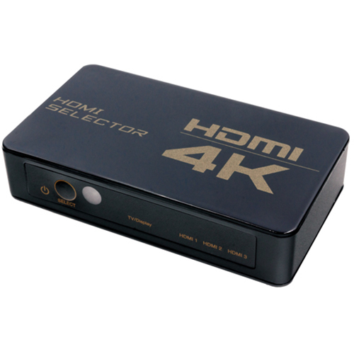 HDS-4K04 [4K対応 HDMI切替器 3入力1出力 専用リモコン付属]