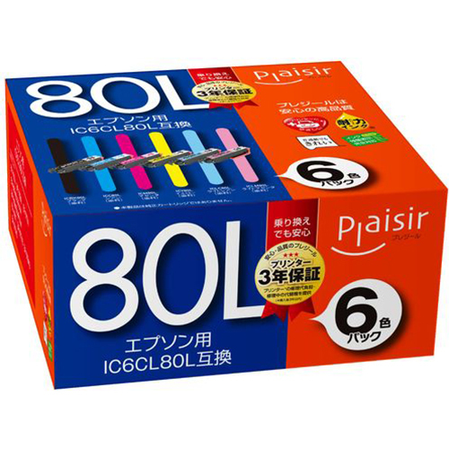PLE-EA80L-6P [IC6CL80L互換インク]