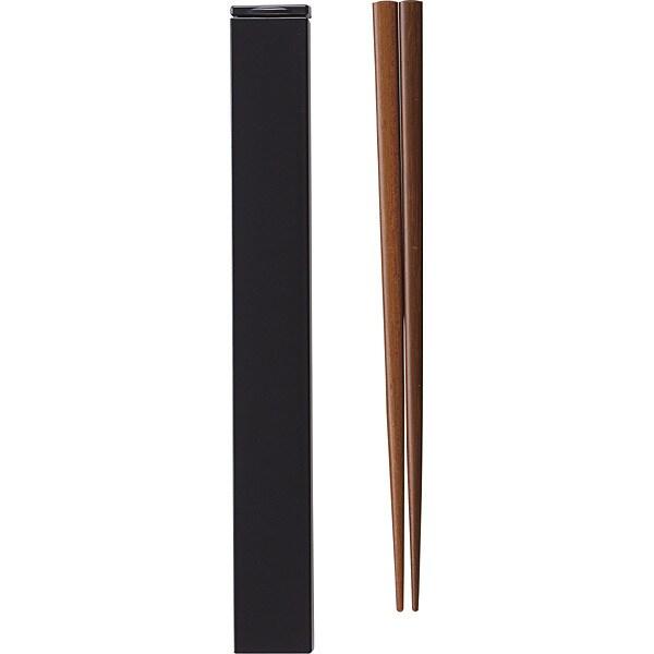 箸箱セット 18cm ブラック