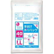 PP-TPLL-40 [ポリ袋(ゴミ袋) 乳白 LL 手さげタイプ 40枚入]