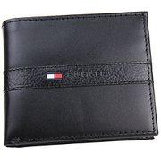 TOMMY HILFIGER 31TL25X001 Black [二つ折り財布]