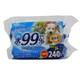 ウェットティッシュ 水99%使用 80枚入×3個パック [犬用トイレ・衛生用品]
