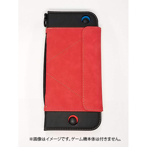 CAE02-2 [Nintendo Switch用 OJO Explorerレザーケース レッド]