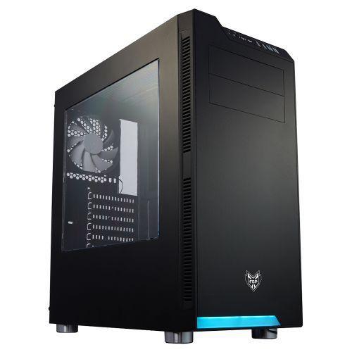 CMT240-BK [FSP ATX/MicroATX対応ミドルタワー PCケース 5.25ODDx2 3.5HDDx2 2.5SSDx2 Normal FANx1 CMT240]