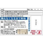 KD-00017 [くだらなライセンス 自転車運転免許証]