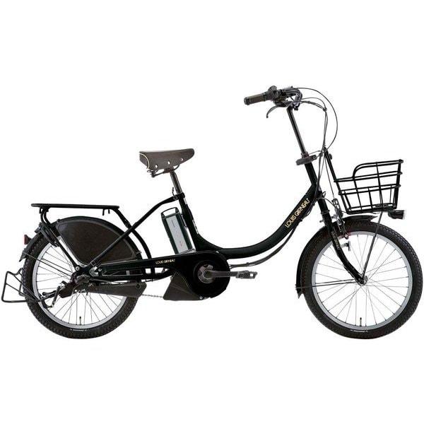 ASCENT DELUXE MATT BALCK [電動アシスト自転車 365mm(135cm~) 20型 12.3Ah 内装3段変速 SHIMANO INTER-3]