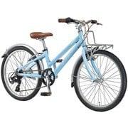 J22PLUS(270)(AI) LIGHT BLUE [ジュニアスポーツバイク 270mm(120~135cm) 外装6段変速 SHIMANO TOURNEY]