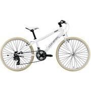 J24CROSS(300)(AI) LG WHITE [24インチ ジュニア用クロスバイク 300mm(130~145cm) 外装21段変速 SHIMANO TOURNEY]
