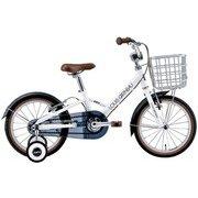 K16PLUS(220)(AI) LG WHITE [子ども用自転車 16インチ 220mm(95~115cm) 変速なし]
