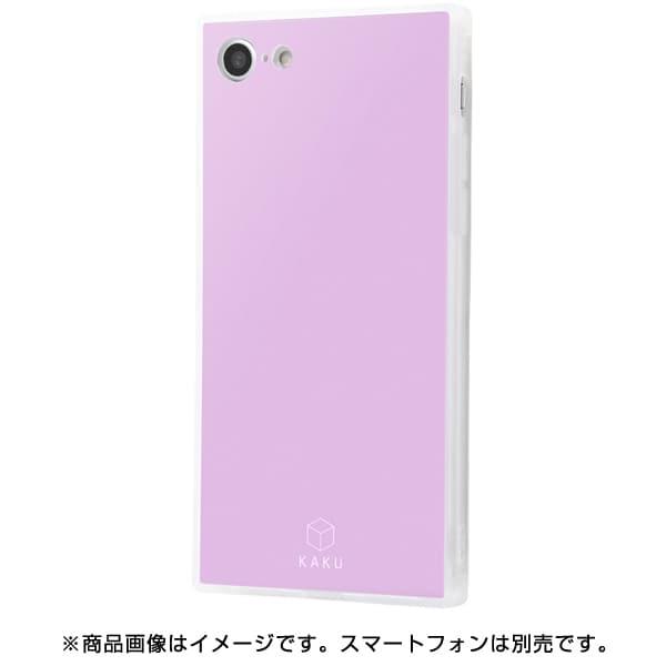 IQ-P7K2C/LD [iPhone 8/7 耐衝撃ガラスケース KAKU シルク/ラベンダー]