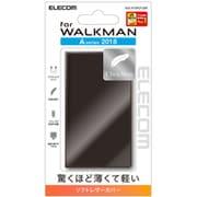 AVS-A18PLFUBK [Walkman A 2018 NW-A50シリーズ対応薄型レザーケース ブラック]