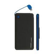 FRUEL フルーエル MFi取得ライトニングケーブル内蔵モバイル充電器5000mAh ブラック/ブルー [モバイルバッテリー Apple Lightningコネクター専用]