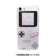 74232 [iPhone 8/iPhone 7 対応ケース PINK-latte ゲーム/ホワイト ラメ]